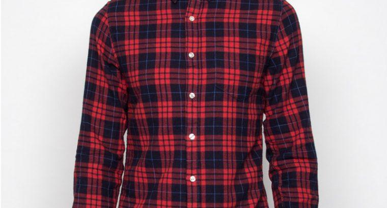 Bluză din material blugi pentru bărbați